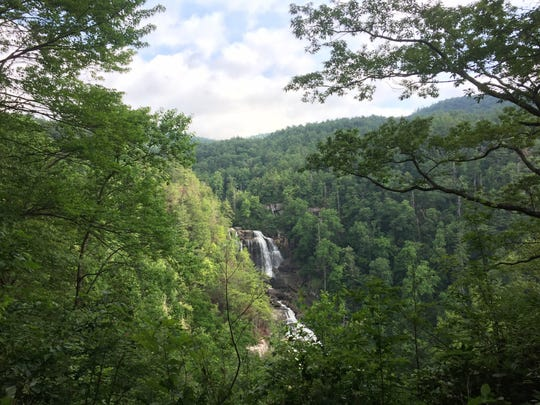 Whitewater Falls is one of the many natural scenic wonders and tourist destinations in Nantahala National Forest.
