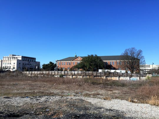 The former site of Memorial Auditorium, torn down 20
