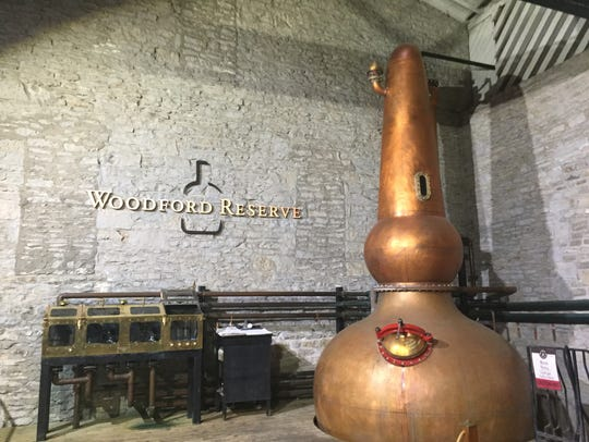 The still at Woodford Reserve, a classic distillery