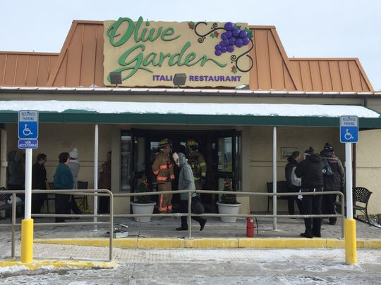 A fire was reported over lunch hour Wednesday at the Olive Garden Restaurant.