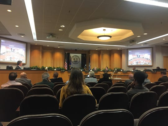 About two dozen community members showed up at a council