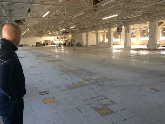 Ron Runyeon surveys the future, 11,000-square-foot