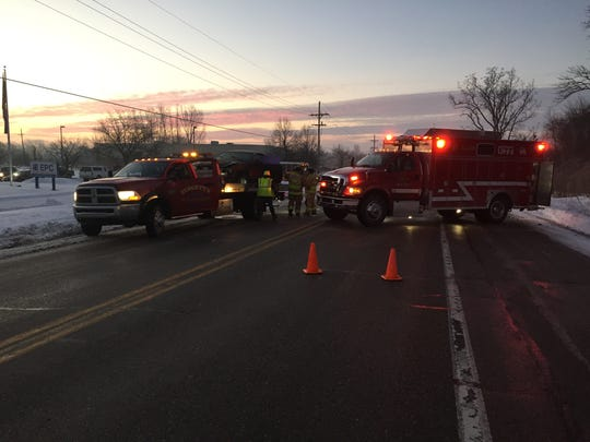 Range Road closed near Yankee Road for an accident
