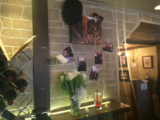 The celebration of life wall at The Parrot in Gettysburg