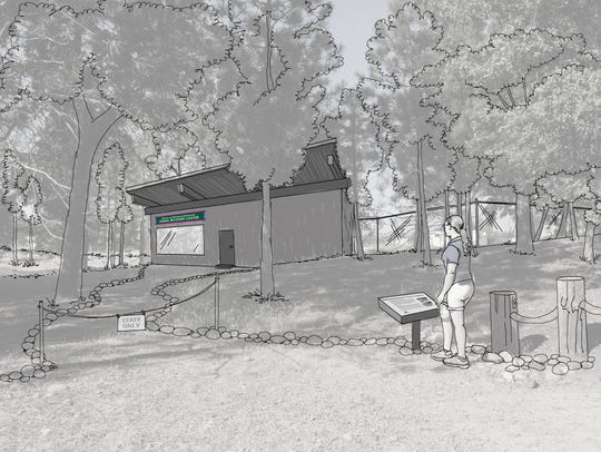 An artist's rendition shows the Animal Recovery Center