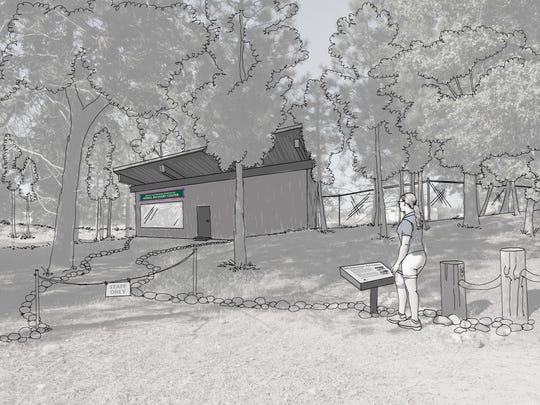 An artist's rendition shows the Animal Recovery Center that Turtle Bay Exploration Park plans to build with a $200,000 donation from Maurice and Marianne Johannessen.