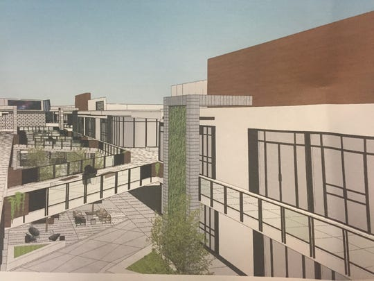 Photo of a design concept submitted in the site plan