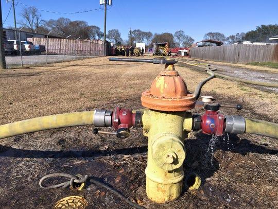 Lafayette firefighters battle a business fire Thursday