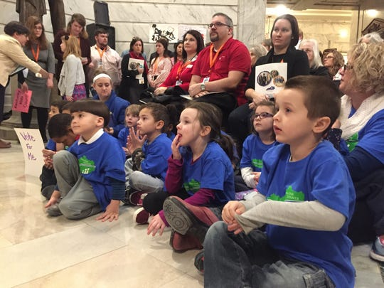 Kids from a Louisville preschool attended Children's Advocacy Day at the Capitol.