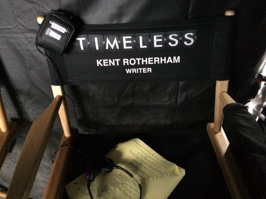 "For the ""Timeless"" episodes he writes, Kent Rotherham is on set during filming as the producer to answer questions about his script."
