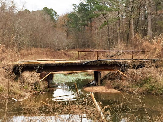 The drainage basin that runs across the 8th and 9th holes at Timber Trails will be expanded into an aesthetically pleasing pond that will feed the course's irrigation system. The bridge on No. 8, which is in poor shape, will be removed and replaced with a new crossing.