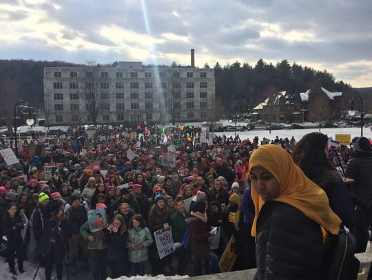 Organizers said 3,000 people came to a march held for