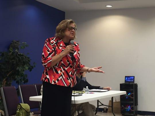 Former Wilmington city councilwoman Maria Cabrera expressed