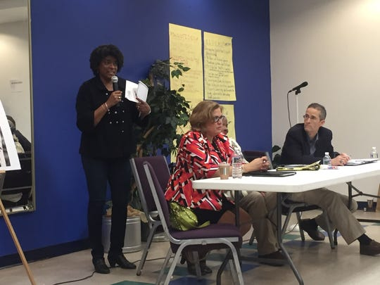 "Wilmington City Treasurer Velda Jones-Potter said her involvement in the We the People Resist event was ""born out of"" the city treating her and her husband unfairly in a long-running legal dispute they've had with a contractor they hired to repair their roof."