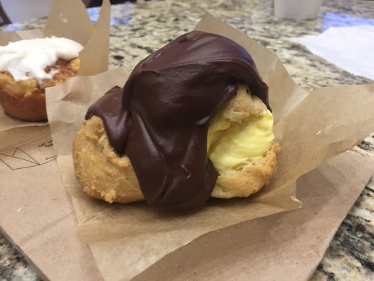 The eclairs at Butter have a thick layer of chocolate.