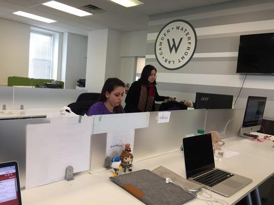 Naciye Cakir and Melissa Le work at Penji, a Camden