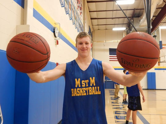 Brady Gavin of Martensdale-St. Marys leads the state in rebounding and shooting percentage and is No. 5 in scoring.