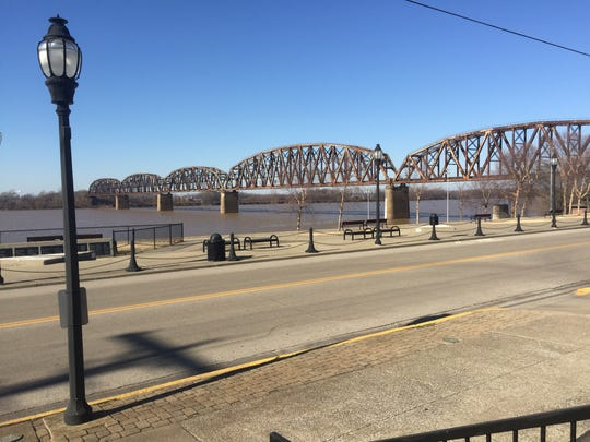 The view from the front of the building currently at 212 Water Street. Rockhouse at Wolf's Pizza has announced they are moving there, and the new name will be Rockhouse on the River.