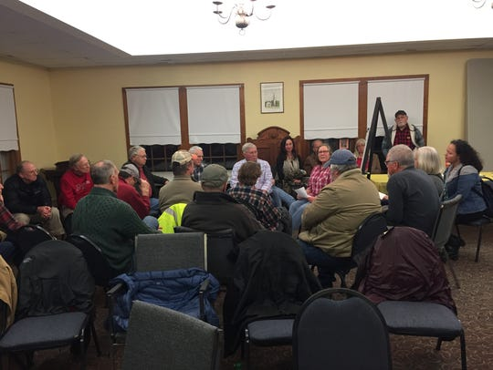 Nearly 70 people attended a  kickoff meeting in Onancock,