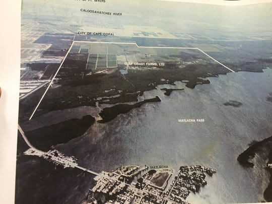 The layout of Gulf Coast Farms in Cape Coral.