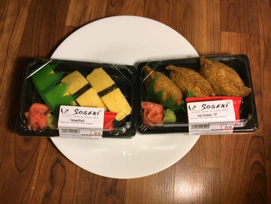 To-go sushi from Soseki Cafe are shown on Jan. 11,