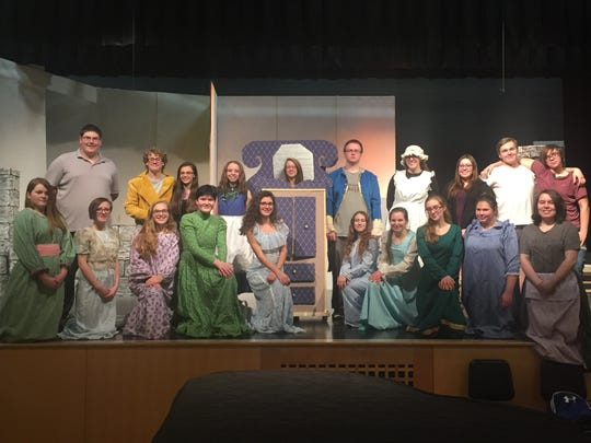 "The cast of Whitney Point High School's 2018 production of ""Beauty and the Beast."""