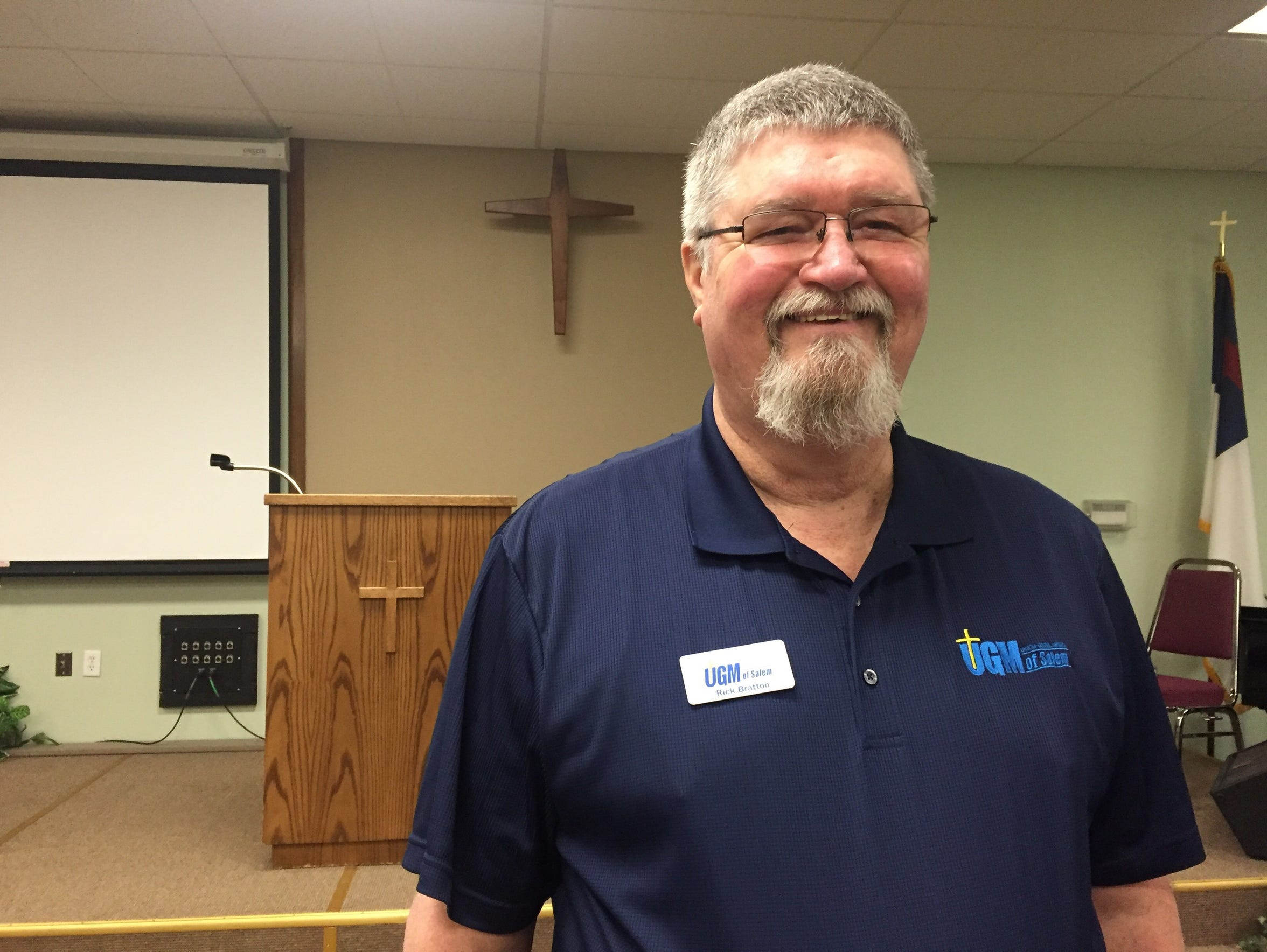 Rick Bratton, Union Gospel Mission guest services manager.