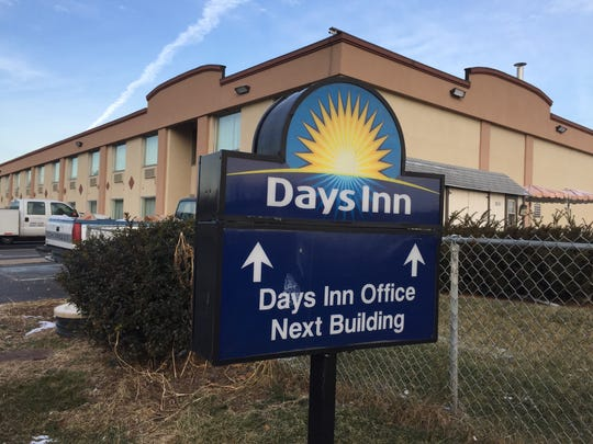 The Days Inn, 353 Lewisberry Road, Fairview Township, where an alleged rape and robbery occurred recently.