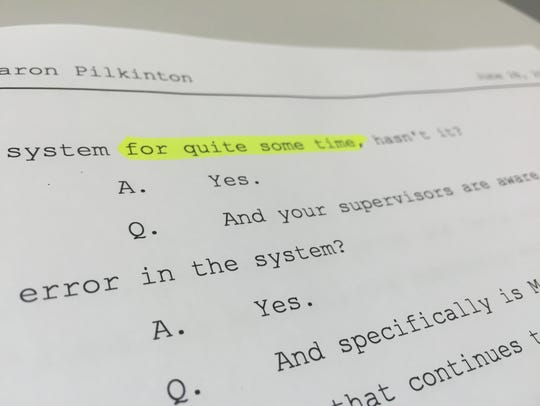 A deposition of a water and sewer department employee