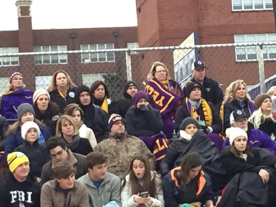 The Byrd soccer fans were bundled against the cold