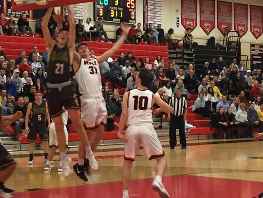 The Hunterdon Central boys basketball team hosts Watchung