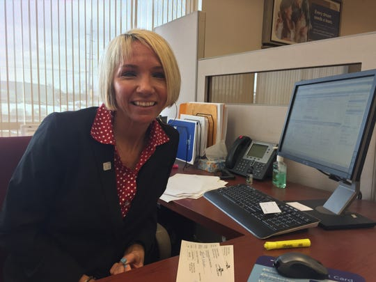 Erica Merrill, an employee at Fifth Third Bank in Brighton,