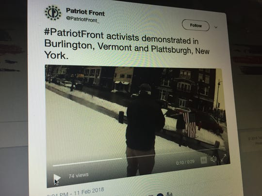 The Twitter account @PatriotFront posted a video on
