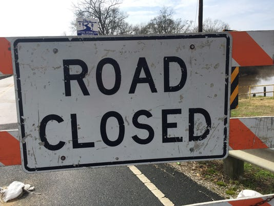 Roads closed