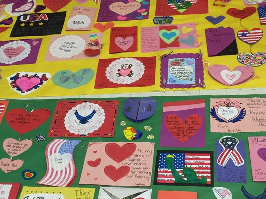 D.C. Everest Middle School students created an array of valentines to honor veterans.