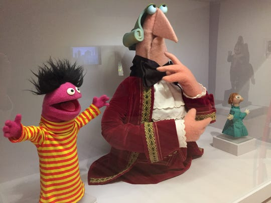 "Puppets by Jim and Jane Henson are on display in ""World"