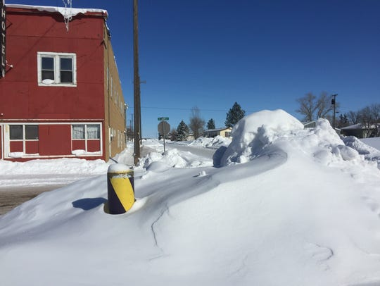 A snow drift in Big Sandy.