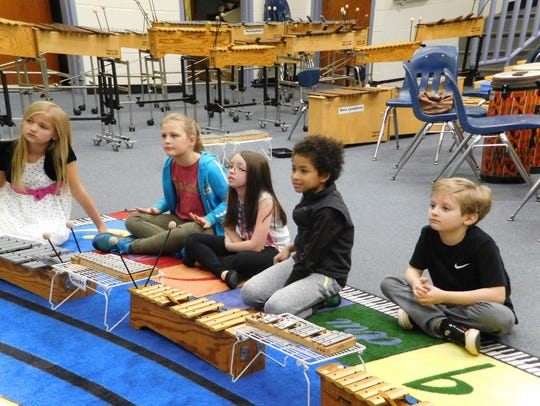 Barbara Hartsfield's third graders are ready to play.