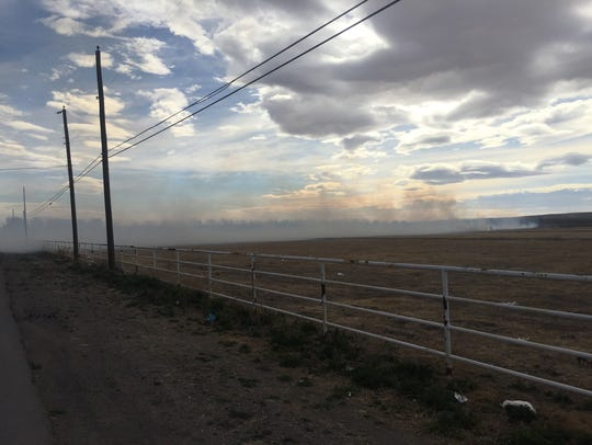 A grass fire on Boyd Drive Feb. 14 created smoke that
