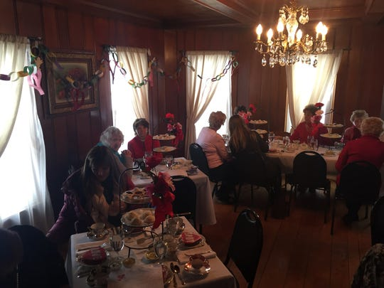 The Octagon House at Westland's Historic Village Park was all hearts and flowers for a Valentine's Day Tea.