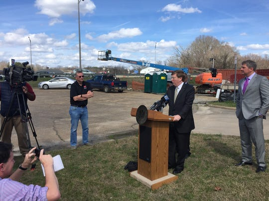 Lt. Gov. Tate Reeves announces an infrastructure funding