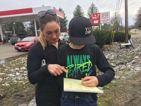 Rayna and Connor Williamson sign up to help cleanup