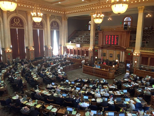 The Iowa House chamber.