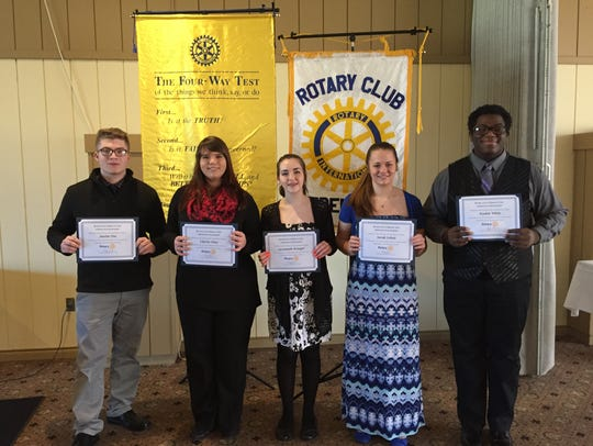 """Participants in Fremont Rotary Club's """"Four-Way Speech"""