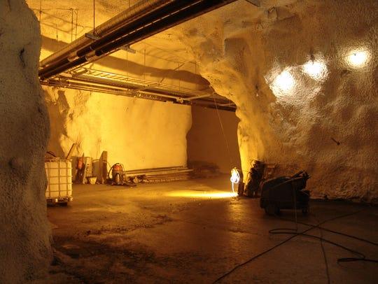 Inside the Svalbard seed vault.