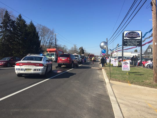 A five-vehicle crash on Delsea Drive closed the northbound