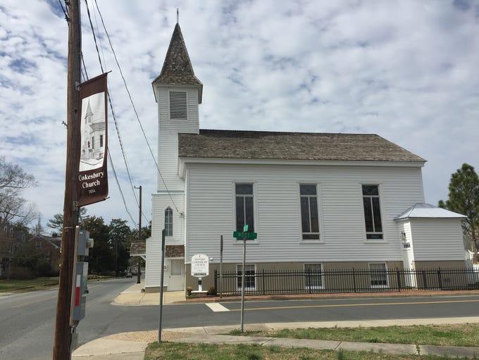 Historic Cokesbury Church sits on Market Street in
