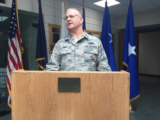 Maj. Gen. Steven Cray says the F-35 is the future of the Vermont Air National Guard on Feb 6, 2018. He is the adjutant general of the Vermont National Guard. JESS ALOE/FREE PRESS