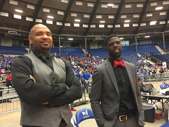 North Caddo coaches Ricky Evans and Brian Shyne were