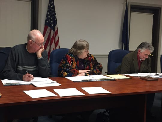 From left to right, West Lebanon Township Commissioners